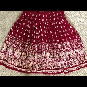 Dresses & Skirts - Beautiful brick red boho skirt